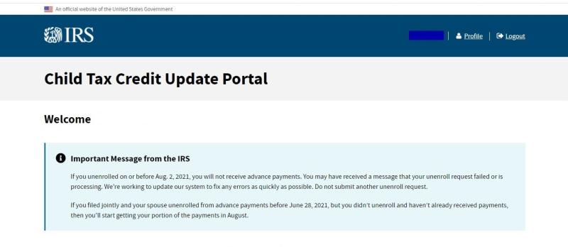 AdvCTC unenrollment error message_full
