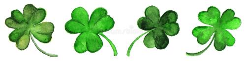 Watercolor-green-clover-shamrock-border-set-isolated-67922481-dreamstime