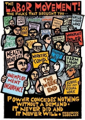 Labor Day labor movement poster by Ricardo Levins Morales