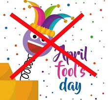 No April Fool's Day 2020