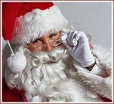 Santa Claus watching YOU! Click his image to watch his delivery route via NORAD.