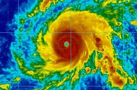 Hurricane satellite image