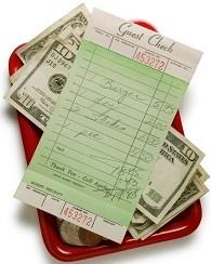 restaurant check tip iStock